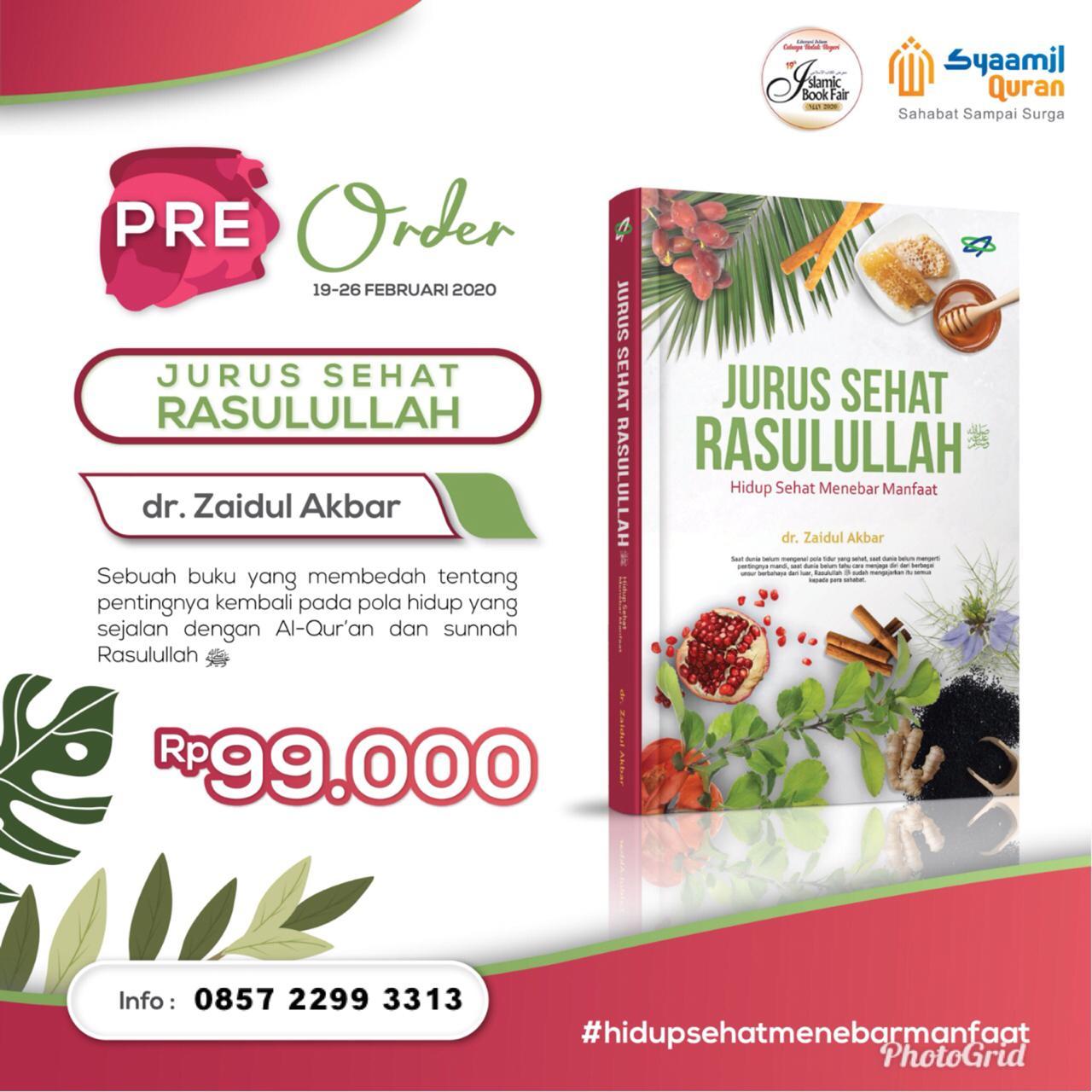Jual Buku Jurus Sehat Rasulullah Karya Ustadz Zaidul Akbar